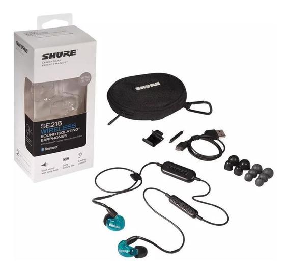 Fone De Ouvido Shure Intra Bluetooth Se215spe Bbt1 Azul