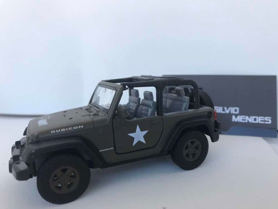 Miniatura Jeep Wrangler Army Exército Escala 1/32