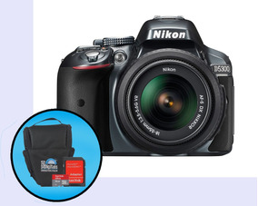 Camera Nikon D5300 Kit 18-55mm 16gb+bolsa (nfe)