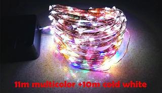 Tira Led Solar 12m, 100 Leds Exterior, Multicolor