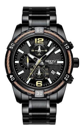 Relógio Masculino Nibosi 2335 Esportivo Cronógrafo Black