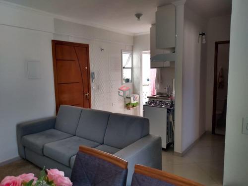 Imagem 1 de 17 de Apartamento À Venda, 2 Quartos, 1 Suíte, 1 Vaga, Tibiriçá - Santo André/sp - 99544