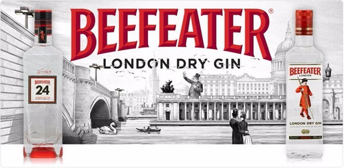 Gin Beefeater X 1000 - Importado London - Ciudad Jardin