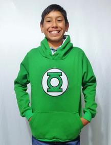 Sudadera Chamarra Niño Niña Super Heroes Linterna Verde Comi