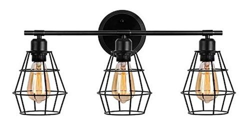 Lámpara De Pared De Jaula De Alambre, Estilo Industrial