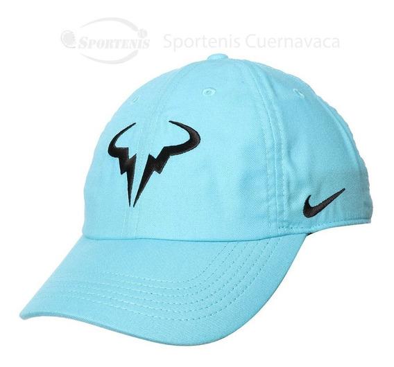 Gorra Nike Rafa Nadal Azul Cielo Ajustable Aerobill Heritage