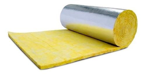 Lana De Vidrio Con Aluminio Reforzado 50mm- Aislante Térmico