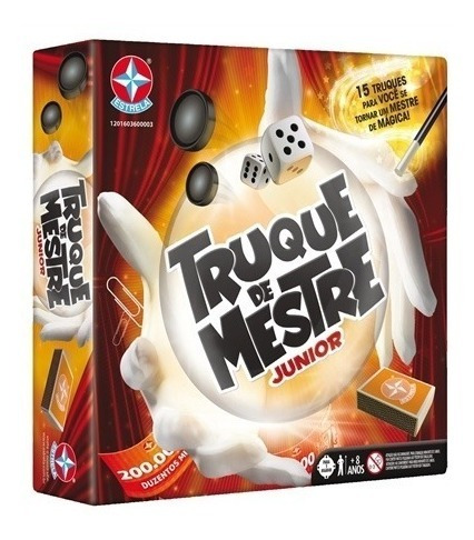 Kit De Mágicas Truque Mestre Jr Brinquedos Meninos Estrela
