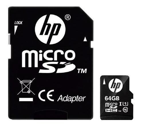 Cartao De Memoria Micro Sd 64gb Classe 10 U1 Hp Hfud064-001