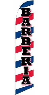 Barberia #95 Bandera Tipo Pluma Con Mastil