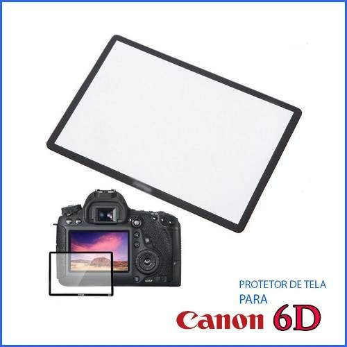 Protetor De Tela De Vidro Lcd Canon 6d Anti Impacto Risco