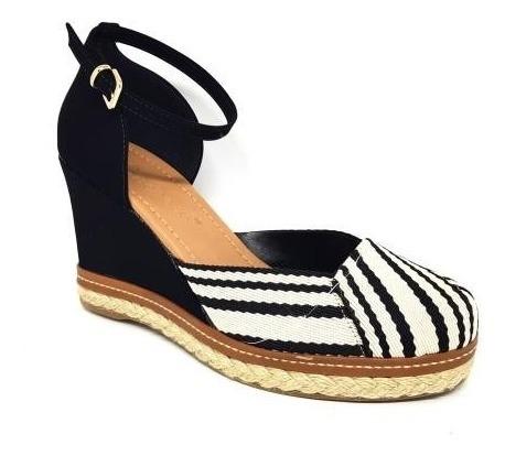 Sapato Bebecê 9117-122 Espadrille Anabela Feminina