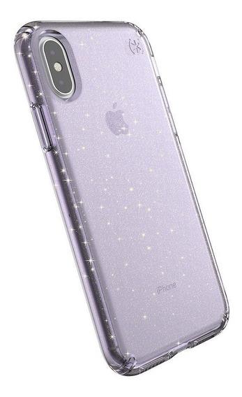 Speck Presidio Clear + Glitt For iPhone X/xs - Bella Pink Wi