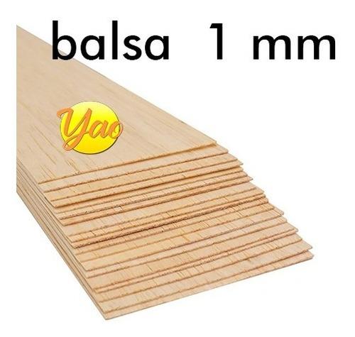 Imagen 1 de 5 de Madera Balsa En Plancha De 1 Mm 7,6 Cm X 91,5 Cm