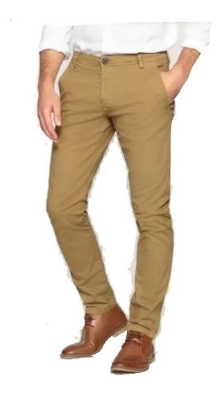 Pantalon Hombre Corte Chino Jeans Elastizados Talle 38 Al 48