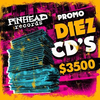 Promo 10 Cds A Eleccion Pinhead Recs A $ 3500 Envio Gratis