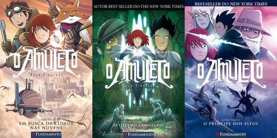 O Amuleto - Volumes 3, 4 E 5 Série Em Quadrinhos