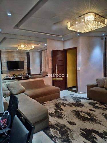 Imagem 1 de 22 de Sobrado Com 3 Dormitórios À Venda, 250 M² Por R$ 820.000,00 - Vila Camilópolis - Santo André/sp - So1497