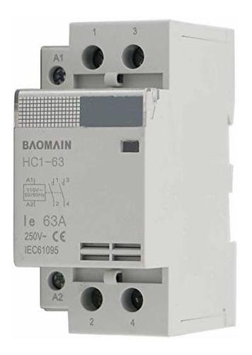 Imagen 1 de 5 de Baomain Contactor De La Ca 110v 63a 2 Hc1-63 Circuito De Con