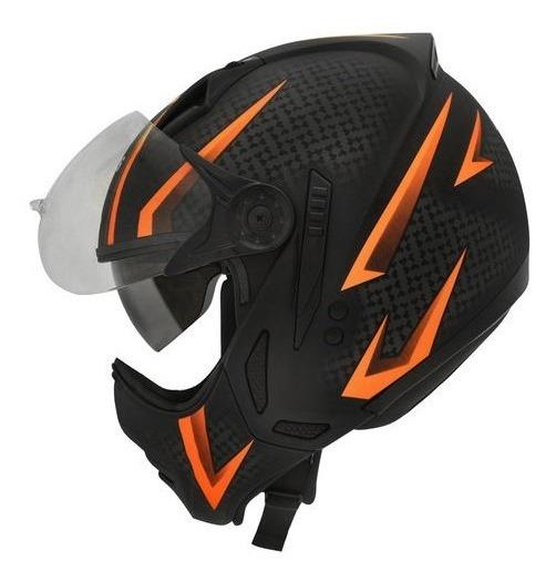 Capacete Moto Peels Mirage Storm C Oculos Laranja