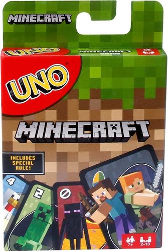 Juego De Cartas Uno Minecraft  Mattel Original