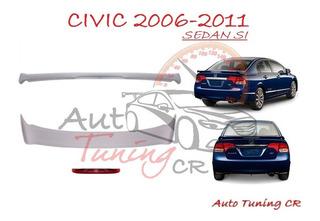 Coleta Spoiler Tapa Baul Honda Civic 2006-2011 Sedan Si