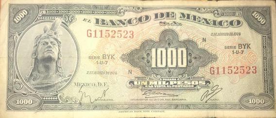 Billete De Colección Un Mil Pesos 2 De Agosto De 1974