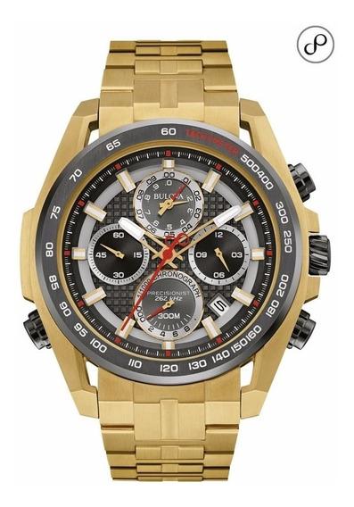 Relógio Bulova Masculino Precisionist Wb31916c Dourado