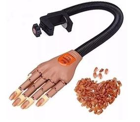 Mão Articulada Treino Manicure Unhas Gel Acrigel Promoção!