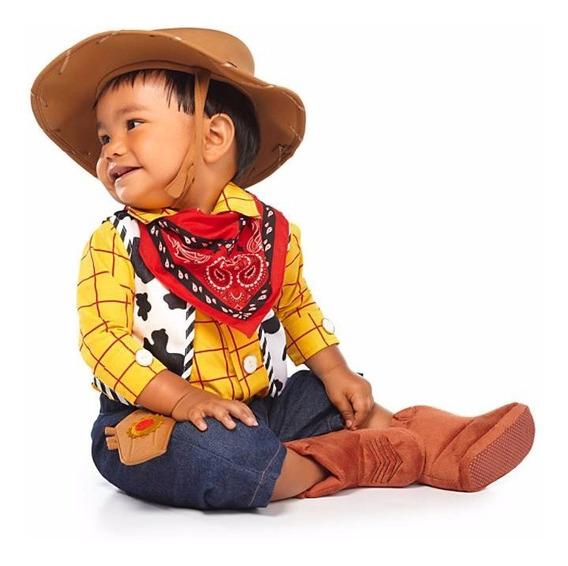 Disfraz Bebe Woody Traje Toy Story Disney Store 18/24 Meses