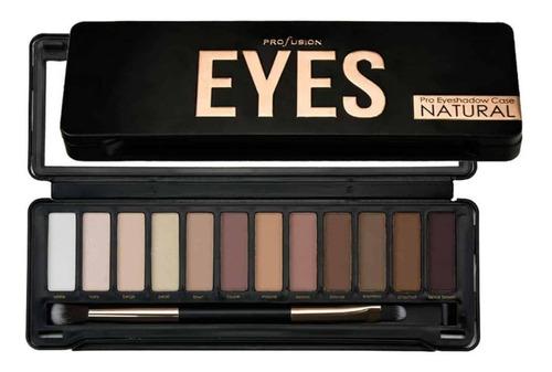 Imagen 1 de 3 de Estuche Con 12 Sombras De Ojos Eyes Pro En Natural Profusion