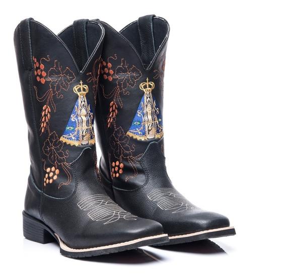 Bota Texana Country Masculina Bic Quadrad Cour Nossa Senhora