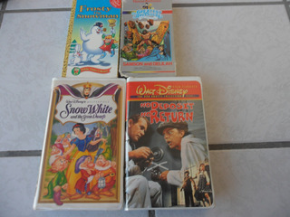 Set De 4 Vhs Originales Disney En Inglés Snow White