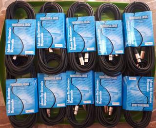 Paquete Con 10 Cable Xlr Para Microfono/dmx 7.6 Mts Balanced