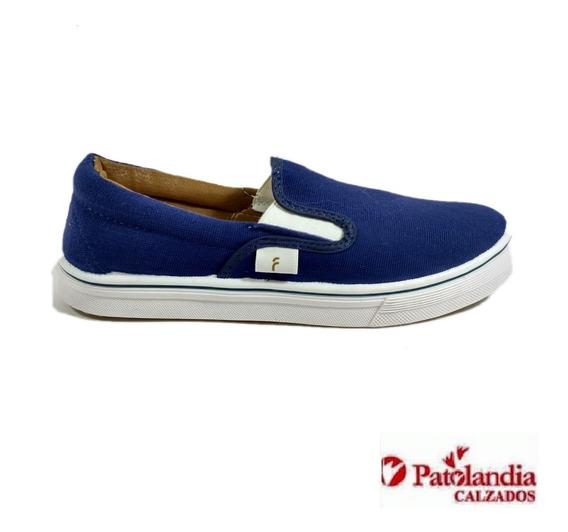 Zapatillas Flecha Hombre Pancha Lona Azul N° 39/45
