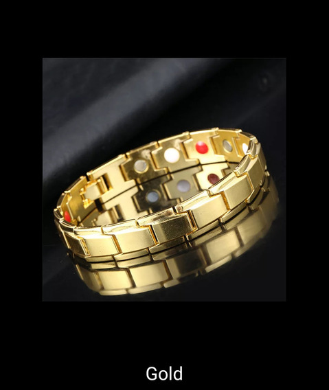 Bracelete Magnético Dourado Pronta Entrega
