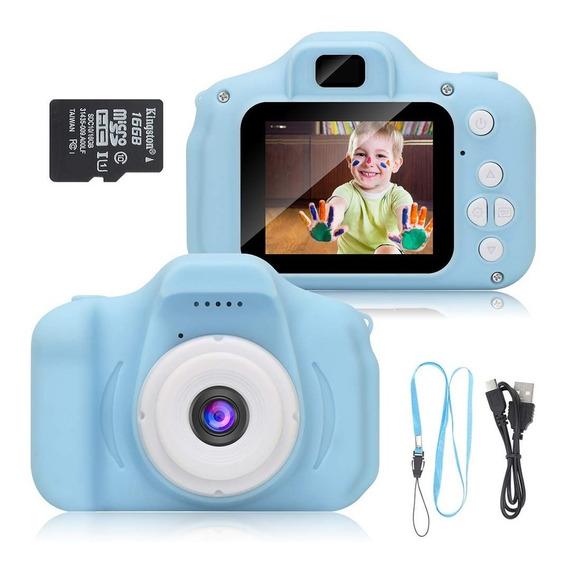 Câmera Infantil Digital Fotográfica + Brinde Cartão A Retira