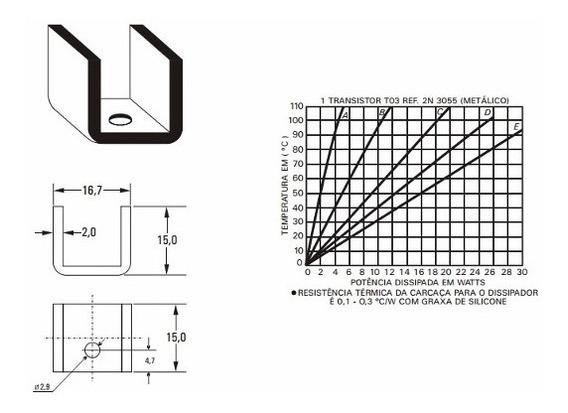 Dissipador De Calor 16,7x15x15 (milímetros ) Preto C/furo