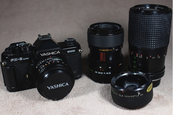 Câmera Fotográfica Yashica Fx-3 Super + Yashica 300 Af