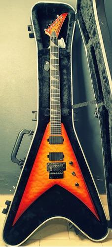 Imagen 1 de 6 de Guitarra Jackson Pro King Transparent Amber Con Estuche