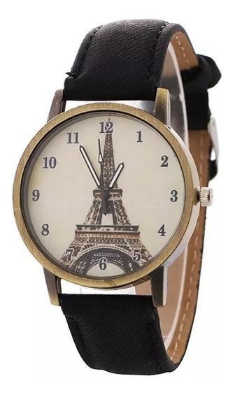 Reloj Moda Retro Estilo Paris Torre Eiffel Dama Mayoreo