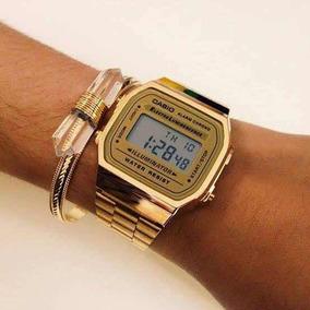 Relógio Casio Retrô Dourado (original)