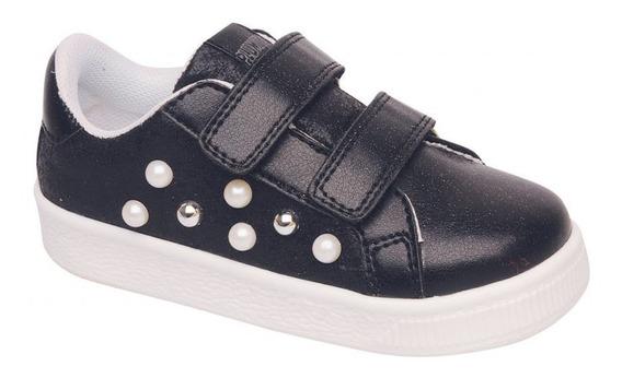 Zapatillas Plumitas Niña Sneackers Abrojos Perlas