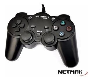 Joystick Pc Usb 2.0 Gamepad Nm-2007u Dual Shock Netmak
