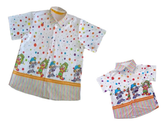 Kit Camisas Tal Pai Tal Filho Patati Patata Festa Infantil