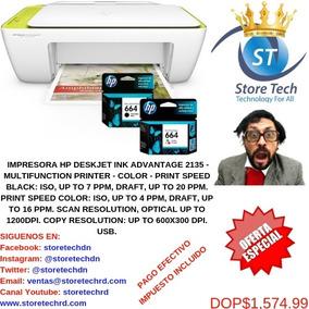 Impresora Hp Deskjet Ink Advantage 2135 - Multifunction Prin