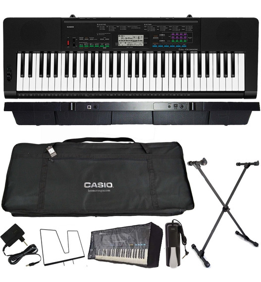 Kit Teclado Musical 61 Teclas Ctk-3400 Sk Casio + Sustain