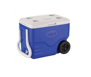 Caixa Térmica C/ Rodas 38l Azul Coleman