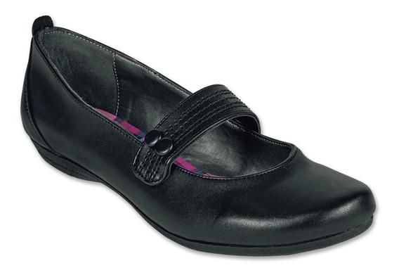 Calzado Dama Mujer Zapato Flat Casual/escolar Negro Cómodo