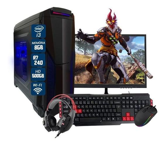 Pc Gamer Intel Completo R7 240 8gb Hd 500gb Com Kit Gamer